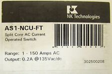 NK TECHNOLOGIES AS1 NCU FT Split Core AC Operated Switch 1-150 Amp AS1-NCU-FT