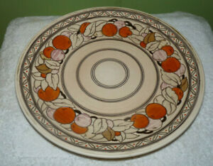 Vintage Crown Ducal Pottery Charger Signed: Charlotte Rhead Size: 12 1/2 inches.