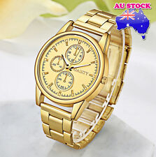 Wholesale Men's Gold Minute Stainless Steel Gold Plated Gold Dial Quartz Watch