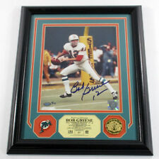 Bob Griese Signed Photo Pin Coin Highland Mint Framed Mounted Memories Auto