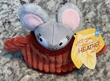 NWT BARK BOX Sweater Weather Heather Mouse Squeaker Toy Small Size 0-20 LBS