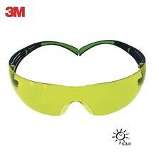 3M Schutzbrille gelb SecureFit400 Bügel schwarz grün PC gelb EN166 EN172