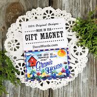 New! GRAM 'S HOUSE Fridge Magnet * Cute Gift * We make all relative names  USA