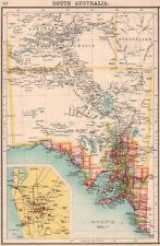 SOUTH AUSTRALIA.Showing railways telegraphs.Adelaide area.BARTHOLOMEW 1901 map