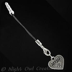 Mobile Phone Charm, MUM, fits Smartphone, iPhone, Samsung, etc, Gold or Silver