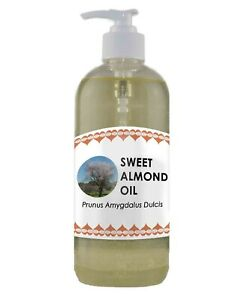 Sweet Almond Oil 500ml Natural Massage Oil Cold Pressed 100% Pure