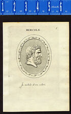 HERCULES-PORTRAIT by Agostini-Battista -1685 Engraving