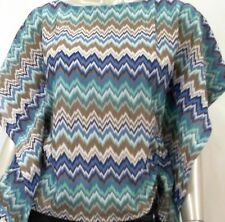 NEW Style & Co. Petite Womens Batwing Sleeve Blouse Top SZ PS Flame Blue $46