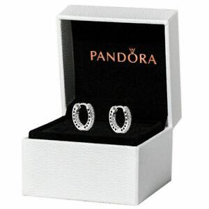 Pandora Hoop Earrings Love 925 Sterling Silver Gift Box 296317CZ UK