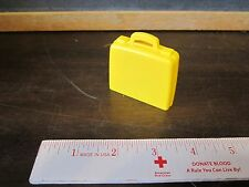 Fisher Price Little People airport luggage yellow bag suitcase package carry on