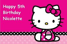 Hello Kitty edible image party cake topper frosting sheet image 8 x 10.5