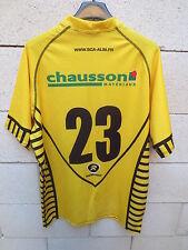 Maillot rugby SCA ALBI porté n°23 LNR dédicacé signé Rugbytech match worn shirt