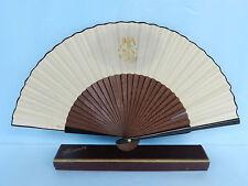 Rare Find~Aleixandre Vtg Wooden Folding Tango Fan Antique? Orig Box Madrid Spain
