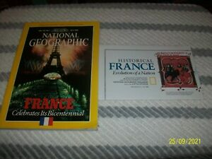NATIONAL GEOGRAPHIC Magazine Back Issue July 1989 France (With Map)