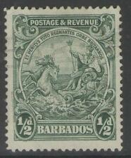 BARBADOS SG230 1925 ½d GREEN USED