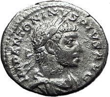 ELAGABALUS  221AD Rome Rare Genuine Authentic Silver Roman Coin Liberty i60415