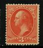 "US #214 Mint-OG 1887 ""3c Washington"" ~ Sound & Fresh w/Rich Color....[CG]"
