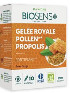 Biosens  gelée royale pollen propolis BIO 10 ampoules programme 10 jours