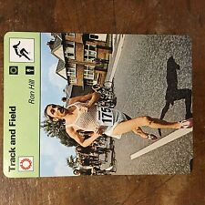 1977-79 SPORTSCASTER #46-09 RON HILL JUMBO CARD  TRACK AND FIELD