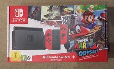 Nintendo Switch Console-Super Mario ODYSSEY Edition-Rouge joycons! NOUVEAU!