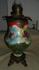 Antique B&H Radiant  Hand Painted Purple Roses Table Lamp No Shade Base Only
