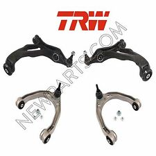 Porsche Cayenne Set Of 2 Front Lower + 2 Front Upper Control Arms OEM TRW