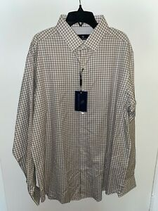 New w/Tags Hart Schaffner Marx Light Brown Shirt Large FREE SHIPPING!