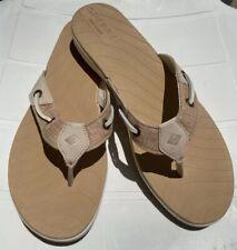 Sperry Top Slider Beige Flat Flip Flops Beach Water Outdoor Size 9 Sandals