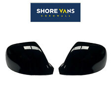 VW Transporter T5 T5.1 T6 Wing Mirror Cover Cap 2010-2015 Gloss Black Pair