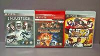 Injustice Moral Kombat Street Fighter IV  Game Lot PS3 Sony Playstation 3 Tested