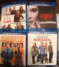 Blu Ray Movie Lot Fright Night 2, Parental Guidance, Baggage Claim, The Oranges