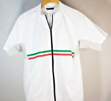RARE - De Marchi Men's Italia Short Sleeve Cycling Jersey White – Sz S – MINT