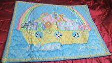 "Handmade Quilt Noah's Ark BABY QUILT Cover Light batting 42"" x 33"""