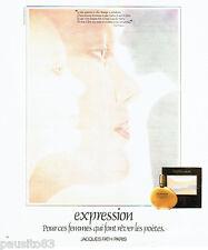 PUBLICITE ADVERTISING 066  1978  Jacques Fath  parfum femme Expression