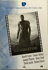 Gladiator Russell Crowe Joaquin Phoenix 2000 Vtg Old Danish Movie Press Release