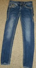 Rock Revival Arisa Skinny Jeans Size 24 PREVIOUSLY OWNED RHINESTONES AND BRAID