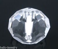 50 Neu Klar CRISTALL Facettiert Böhmische Glasschliffperlen Beads 10mm