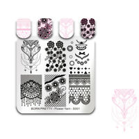 BORN PRETTY Nail Stamping Plates  Flower Lace Bride Image Template Decor