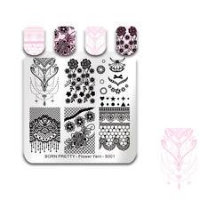 BORN PRETTY Nail Stamping Plates Manicure Flower Lace Bride Image Template Decor