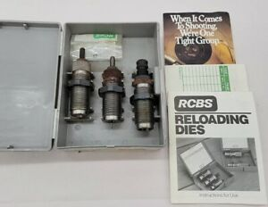 RCBS 3-DIE CARB SET .357MG/.38SP 18212 -Shell Holder #6  +Case & Instructions