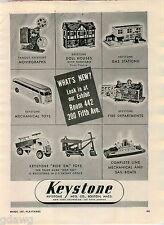 1951 ADVERT Keystone Toy Toys Ride Em Steam Shovel Bus Doll House Dump Truck