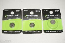 Enercell Electronics Battery CR1216 Lithium #23-792 - LOT of 3