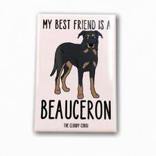 Beauceron Dog Magnet Best Friend Cartoon Art Gifts and Home Decor