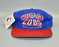 Chicago Cubs MLB Logo 7 Vintage 90's Twill Adjustable Snapback Cap Hat - NWT