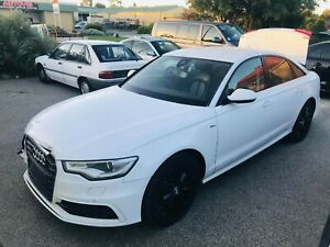Audi A6 Sedan 2014 White Wrecking parts, panel, gearbox etc for sale