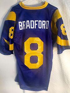 Reebok NFL Jersey St. Louis Rams Sam Bradford Blue Throwback sz M