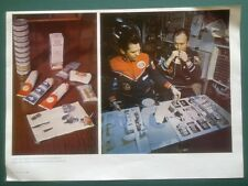 SPACE PHOTO PLACARD POSTER PILOT ASTRONAUT COSMONAUT FOOD EATING MEAL SPACECRAFT