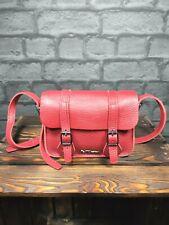 "Dr Martens Original Red Leather Sachet Bag 7"""