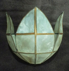 Pretty Capiz shell lampshade, small bud-like shape
