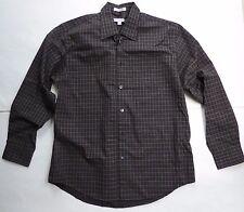 Geoffrey Beene Checks & Plaids Black & Gold 16 - 16 1/2 LS Dress Shirt Easy Care
